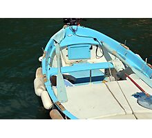 Boat in the water in Vernazza Photographic Print