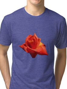 Beautiful Red Rose Photograph Vector Tri-blend T-Shirt