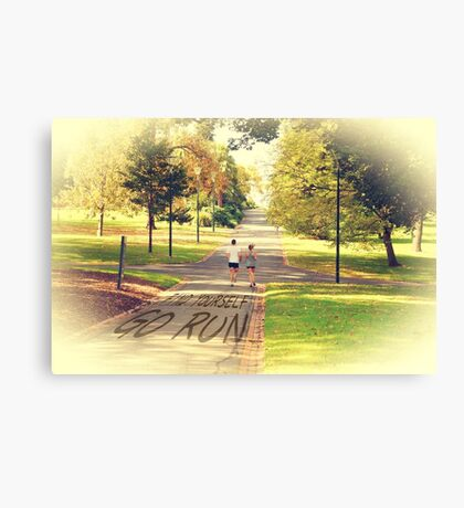 Find Yourself Go Run at Fitzroy Gardens Melbourne Canvas Print