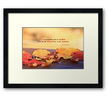 Miraculous in the Common on a Fine Autumn Day Framed Print