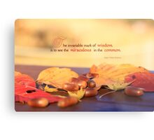 Miraculous in the Common on a Fine Autumn Day Metal Print
