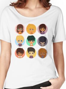 Pastel Heroes of Olympus Chibi Women's Relaxed Fit T-Shirt