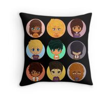 Pastel Heroes of Olympus Chibi Throw Pillow