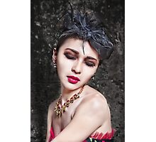 Beautiful woman with asian make-up Photographic Print