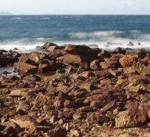 Rocks on Cowrie Island Sticker