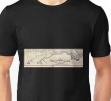 0342 Railroad Maps Route of the Pacific and Atlantic Rail Road between San Francisco San Jose as located by Wm J Lewis Chief Engineer in Sept Oct Nov Unisex T-Shirt