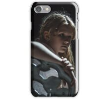 girl siting on chair  iPhone Case/Skin