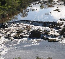 Tumbling Water Froth & Whirlpools, Barwon River, Geelong. Victoria. by Rita Blom
