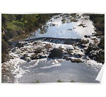 Tumbling Water Froth & Whirlpools, Barwon River, Geelong. Victoria. Poster
