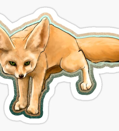 Fennec fox on the hunt Sticker