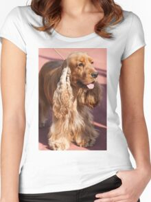 cocker dog Women's Fitted Scoop T-Shirt
