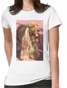cocker dog Womens Fitted T-Shirt
