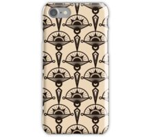 Seamless antique pattern ornament. Geometric art deco stylish background, repeating texture in monochrome colors iPhone Case/Skin