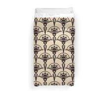 Seamless antique pattern ornament. Geometric art deco stylish background, repeating texture in monochrome colors Duvet Cover
