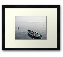 Boat on Lake Garda Framed Print