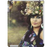 fantasy woman in garden iPad Case/Skin