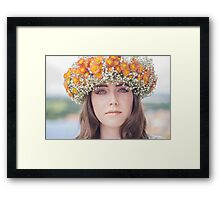 Autumn Woman Framed Print