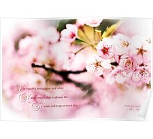 When Nature Resumes Her Loveliness Sakura Poster