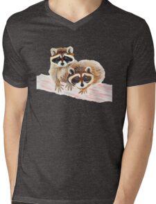 Raccoons Mens V-Neck T-Shirt