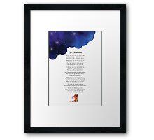 The Little Star Poem Framed Print