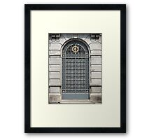 Blue Door in Milan Framed Print