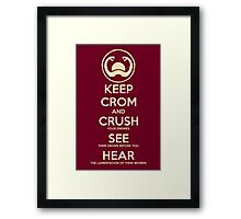 Conan the Barbarian Crom Framed Print