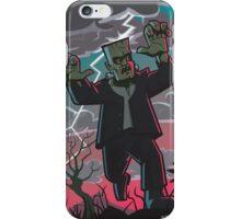 frankenstein creature in storm  iPhone Case/Skin