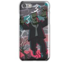 frankenstein creature in storm  iPhone Case/Skin