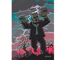 frankenstein creature in storm  Photographic Print