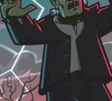 frankenstein creature in storm  Sticker