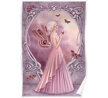 Pearl Birthstone Fairy Poster