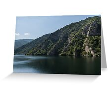 Steep Shores and Green Summer Light - a Mountain Lake Impression Greeting Card