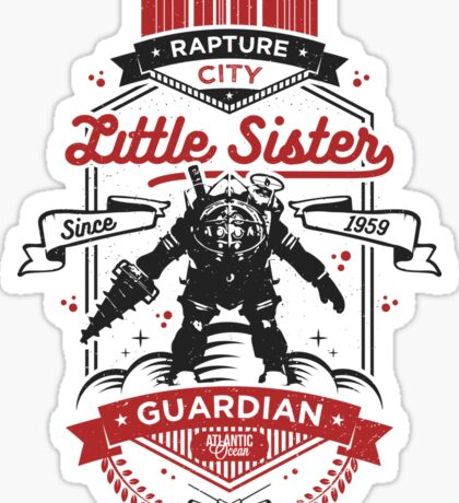 Little Sister Protector Sticker