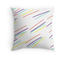 Colourful Strike Throw Pillow