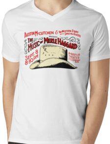 MERLE HAGGARD ALBUMS 3 Mens V-Neck T-Shirt