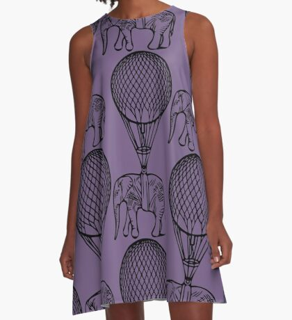 Up Up and Away A-Line Dress