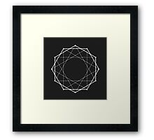 Geometric Triangles Circles Framed Print