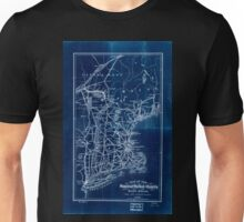 0392 Railroad Maps Map of the Stanstead Shefford and Chambly Rail Road and its Inverted Unisex T-Shirt