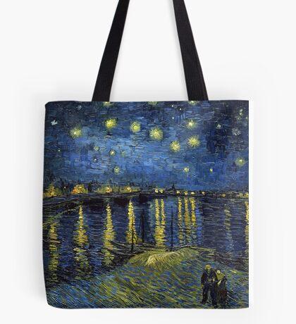 1888-Vincent van Gogh-Starry Night-72x92 Tote Bag