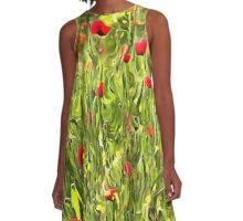 Surreal Hypnotic Poppies A-Line Dress