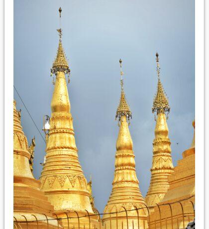 Golden Pagodas Sticker