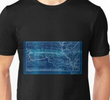 0276 Railroad Maps Map of the Hannibal St Joseph Railroad and its connections published by the American Railway Review New Inverted Unisex T-Shirt