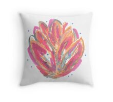 Pink orange flaming leaves Throw Pillow