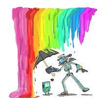 Robo Rainbow Respite by lizslounge