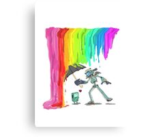 Robo Rainbow Respite Canvas Print
