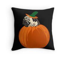 pumpkin pug Throw Pillow