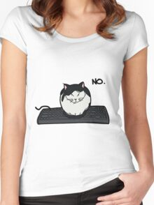 Rule Number 1: The Cat ALWAYS Comes First Women's Fitted Scoop T-Shirt