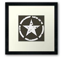 military star grunge Framed Print