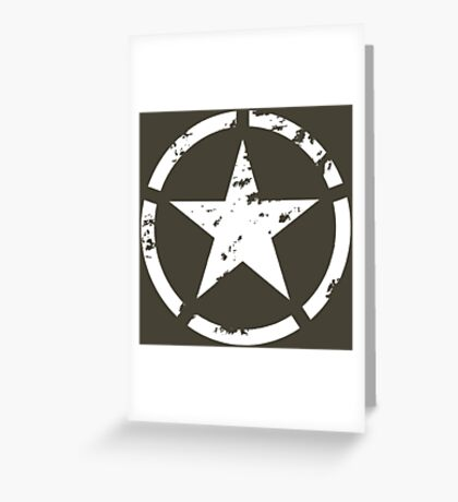 Military star grunge Greeting Card