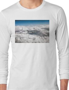 Avro Vulcan above towering clouds Long Sleeve T-Shirt